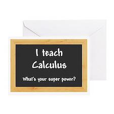 I teach Calculus Greeting Card