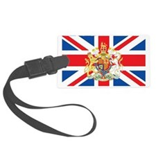 British Flag with Royal Crest Luggage Tag