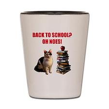 Back to school cat Shot Glass