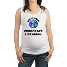 World's Coolest Corporate Libra Maternity Tank Top