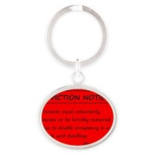 Eviction Notice - Twins Oval Keychain