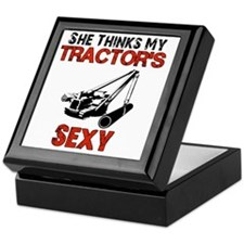 She Thinks My Tractors Sexy Keepsake Box
