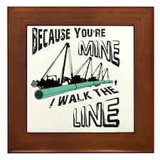 I Walk The Line Framed Tile