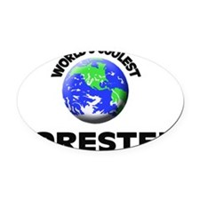 World's Coolest Forester Oval Car Magnet