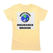 World's Coolest Insurance Broker Girl's Tee
