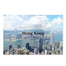 HongKong_5x3rect_sticker_ Postcards (Package of 8)