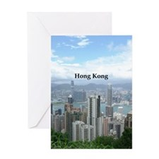 HongKong_2.5x3.5_Ornament (Oval)_Hon Greeting Card