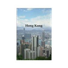 HongKong_2.5x3.5_Ornament (Oval)_ Rectangle Magnet