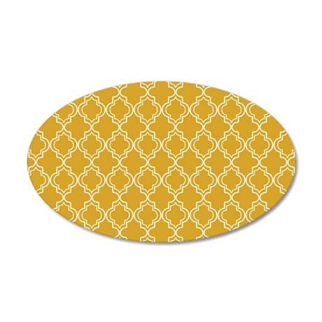 Moroccan TnT PC W Gold 35x21 Oval Wall Decal