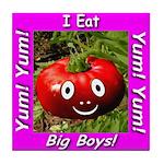 I Eat Big Boys! Tile Coaster