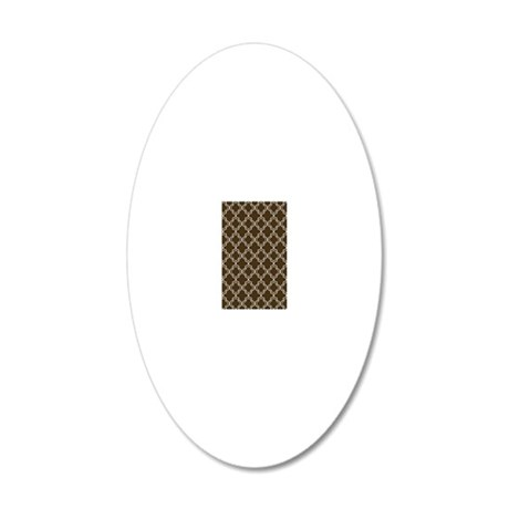 Moroccan TnT 5x7 W Brown 20x12 Oval Wall Decal