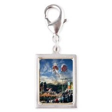 Pope John Paul II  Mass in t Silver Portrait Charm