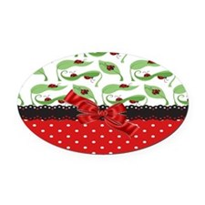 Ladybug Connection Oval Car Magnet