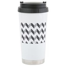 Chevron Grey Zig Zag Travel Mug
