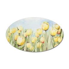 Nathalies Tulips 35x21 Oval Wall Decal