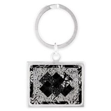 Larissa - Black and White Card  Landscape Keychain