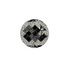 Larissa - Black and White Card Trick p Mini Button