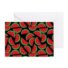 Cute Watermelon On Summer Colors (7) Greeting Card