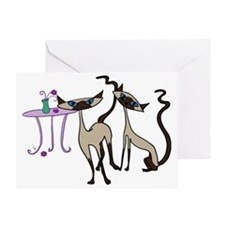 Siamese Cats looking for mischief Greeting Card