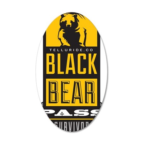 black bear pass 35x21 Oval Wall Decal
