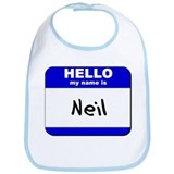 hello my name is neil  Bib