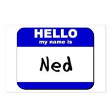 hello my name is ned  Postcards (Package of 8)