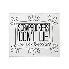 Scrapbookers Embellish Throw Blanket