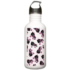 Black and Pink Roller  Water Bottle