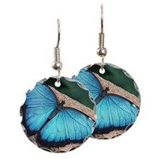 Blue Morpho Butterfly Earring