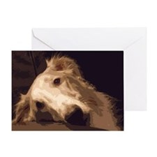 Melancholy Borzoi Greeting Card