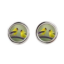 Gold Finches Cufflinks