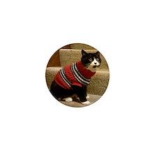 Schubert the cat in a sweater Mini Button