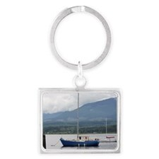 Anchored sailboat Landscape Keychain