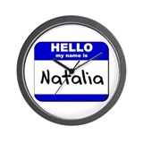 hello my name is natalia  Wall Clock