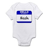 hello my name is nash  Onesie