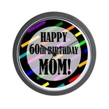 60th Birthday For Mom Wall Clock