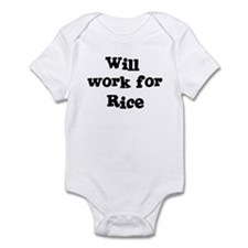 Will work for Rice Infant Bodysuit