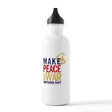 Make Peace not War Sports Water Bottle