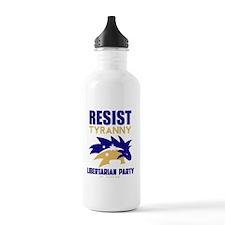 Resist Tyranny Gold Water Bottle