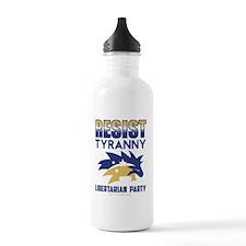 Resist Tyranny Blue Go Water Bottle