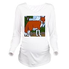 Foxy Long Sleeve Maternity T-Shirt