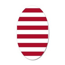Stripes 1 3x5 W Dk Berry Red Wall Decal