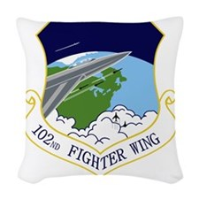 102nd FW Woven Throw Pillow