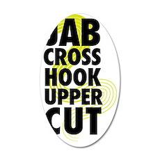 Jab Cross Hook Upper-cut 35x21 Oval Wall Decal