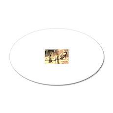 Mata Hari Collage 20x12 Oval Wall Decal