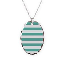 Stripes 1 5x7 W Med Teal Necklace
