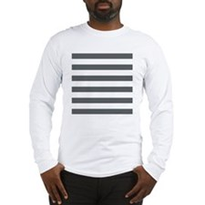 Stripes 1 In Sq Rev W Gray Long Sleeve T-Shirt