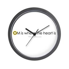 Om is where the heart is Wall Clock