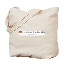 Om is where the heart is Tote Bag