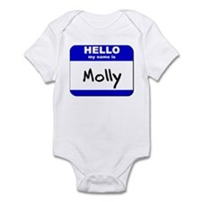 hello my name is molly  Infant Bodysuit